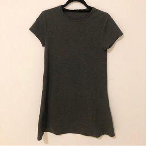 Zara Dresses | Zara TRF Grey T-Shirt Shift Dress